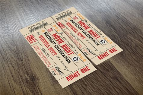Old Fashioned Movie Ticket Template 187 Designtube Creative Design Content Fashioned Ticket Template