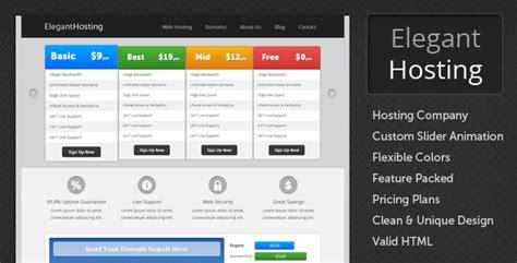 elegant hosting html hosting template by royaltemplates
