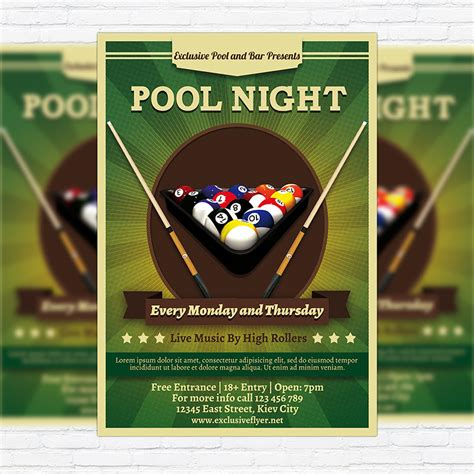 free pool flyer templates pool premium flyer template cover