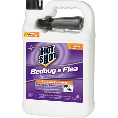 hot shot bed bug spray shop hot shot bedbug and flea 1 gallon insect killer at