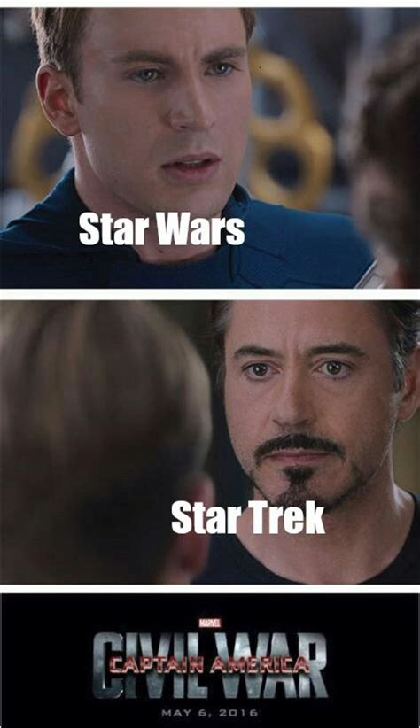 Star Wars Star Trek Meme - star wars vs star trek meme suls pictures to pin on