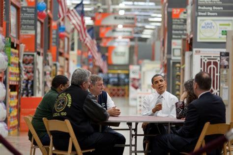 president obama visits home depot media city groove