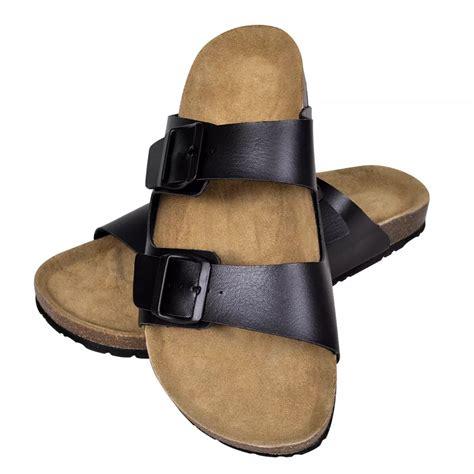2 buckle sandals black unisex bio cork sandal with 2 buckle straps size 44