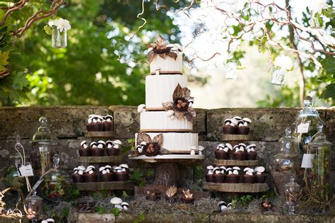 rustic country woodland themed wedding cake rustic wedding chic