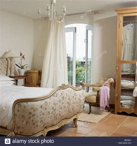 country bedroom curtains upholstered french bed in cream country bedroom with cream