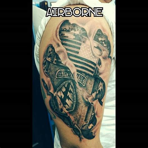 army ranger tattoo army airborne ranger left shoulder veteran ink