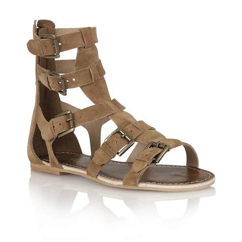brown suede sandals buy ravel los angeles gladiator sandals in brown suede