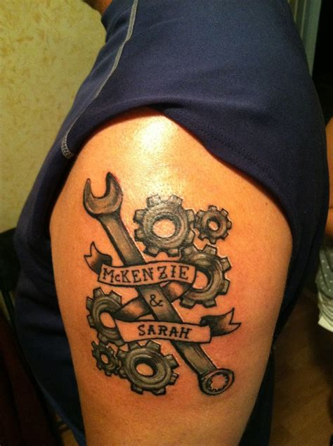 mechanic tattoo designs the hubby s he is a diesel mechanic has two