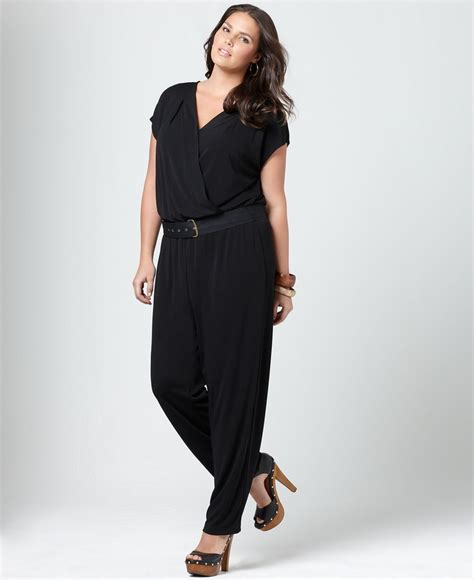 dressy jumpsuits at macys for women dknyc plus size jumpsuit short sleeve belted plus size