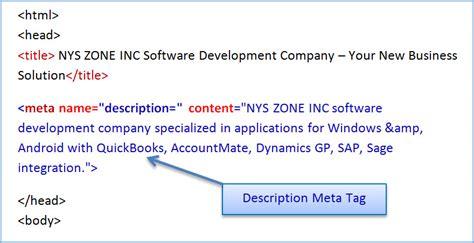 search engine optimization description meta tag