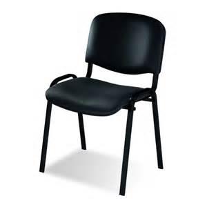 joker eco chaise visiteur simili cuir noir goujon bureau