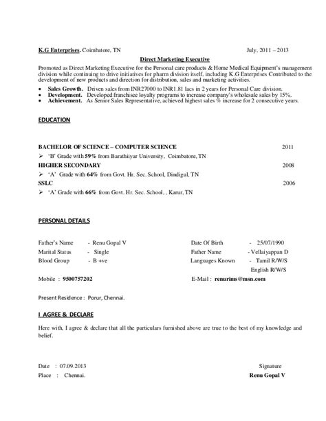 Resume Sles For Experienced Person Cv For Experienced Person Executive Level