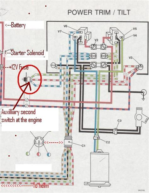 johnson outboard tilt trim wiring diagram johnson 85 hp