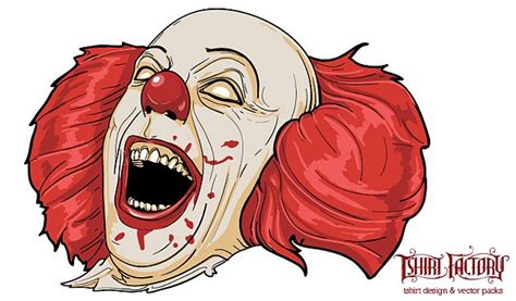 free evil clown character vector free download