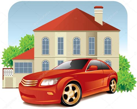 house car house and car stock vector 169 annadrozd 3189284