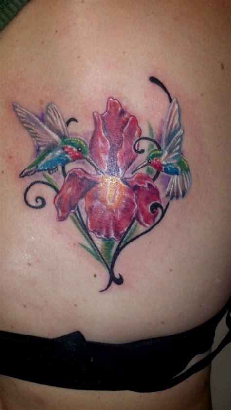 tattoo eye iris hummingbird flower iris tattoo color tattoo pinterest