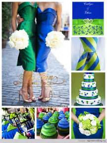 blue and green wedding colors navy blue and lime green theme royal blue and lime