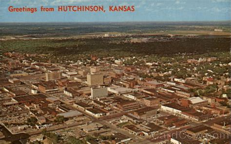 City Of Hutchinson Hutchinson Ks Aerial View Of The City Hutchinson Ks
