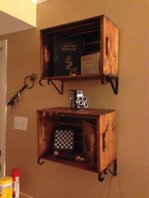 wooden crate shelves home made wooden crates shelves guest room
