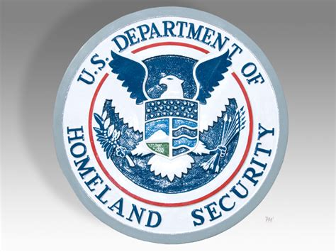 u s department of homeland security plaque or seal ebay
