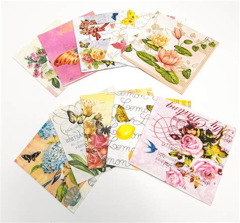 Decoupage Using Napkins - decorative paper napkins for decoupage or other crafts