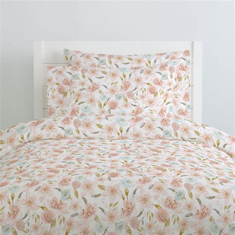 pink hawaiian floral duvet cover carousel designs