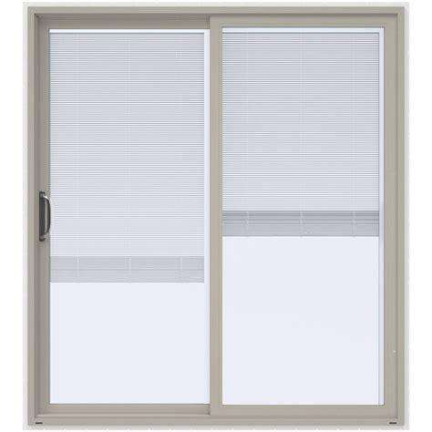 Prehung Patio Doors Jeld Wen 72 In X 80 In V 4500 Desert Sand Prehung Left
