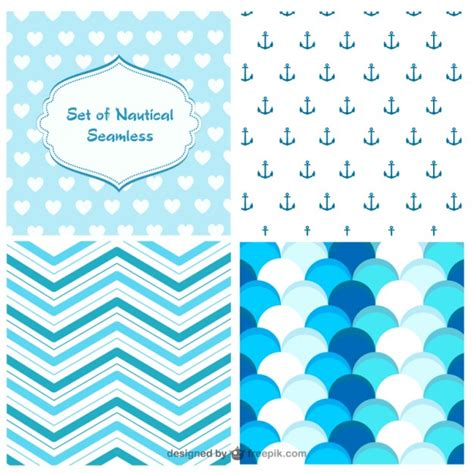 nautical pattern vector nautical seamless patterns vector free download