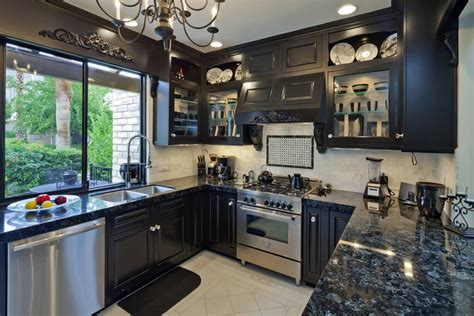small kitchen with black cabinets 46 kitchens with cabinets black kitchen pictures