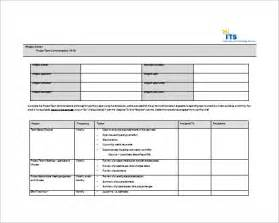 Team Plan Template by 7 Project Communication Plan Templates Free Sle