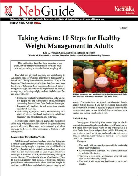 weight management in adults 63 best images about food nutrition handouts on