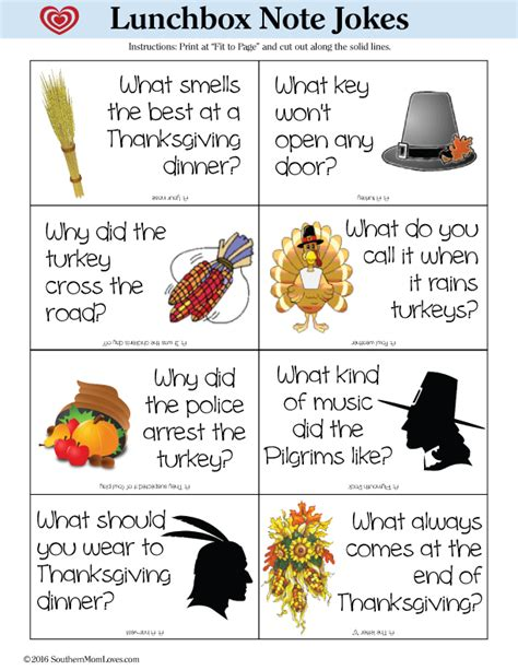 printable thanksgiving jokes and riddles southern mom loves thanksgiving lunchbox note jokes free