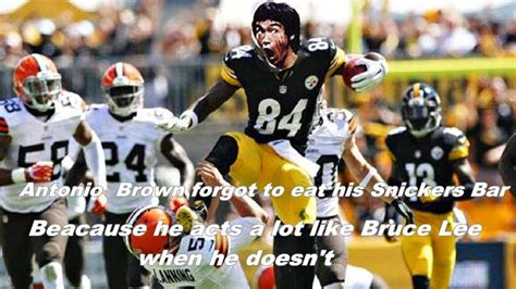 Antonio Brown Meme - 22 meme internet antonio brown forgot to eat his snickers bar because he acts a lot like bruce