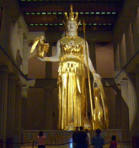 imagenes de la estatua del dios zeus algargos arte e historia atenea partenos la diosa