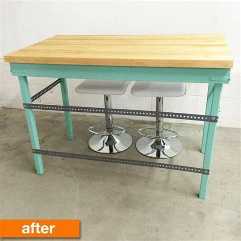 Apartment Therapy Kitchen Island Before After A New Bold Butcher Block Island Butcher Block Island Block Island And Butcher