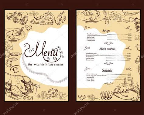 design menu book background on an old book for menu design stock vector