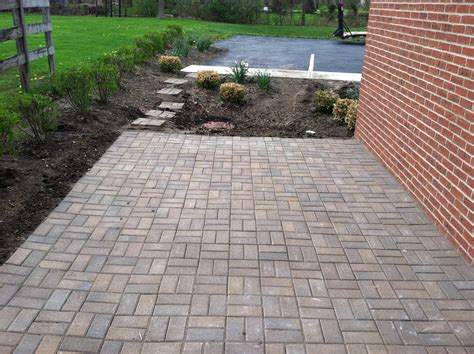 Paver Stone Patios Installation Russell Landscape Services Pictures Of Patio Pavers