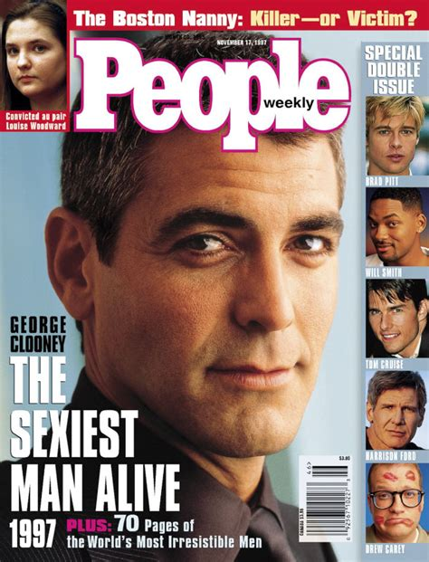 The Sexiest Men Alive By To People Magazine From 1990 To 2017 Sexiest Alive Magazine Cover Template