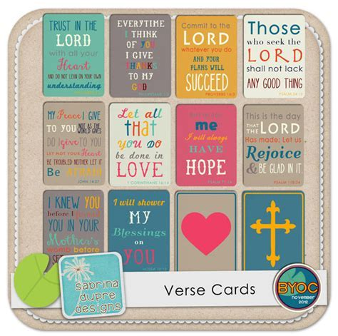The Lilypad :: Journal Cards :: Verse Cards