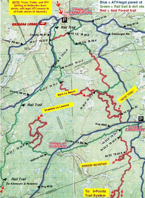 atv trails maps atving in ontario on haliburton atv club trails