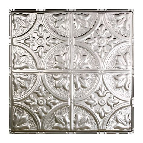 Great Lakes Tin Jamestown 2 Ft X 2 Ft Nail Up Tin Sted Tin Ceiling Panels