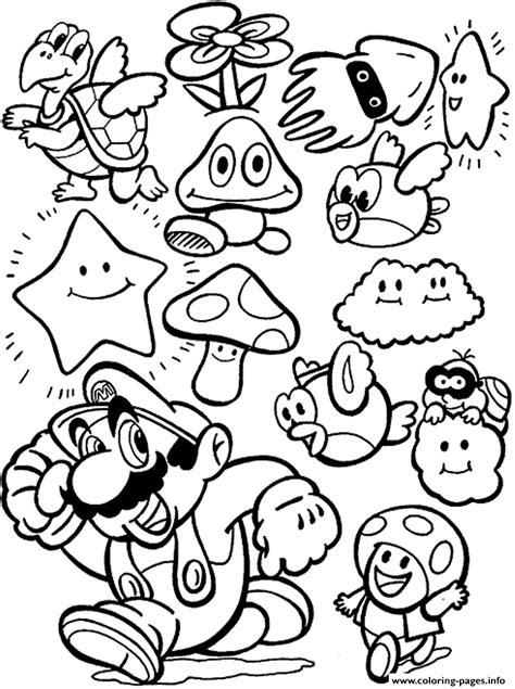 coloring page mario bros cartoon mario bros sa16d coloring pages printable