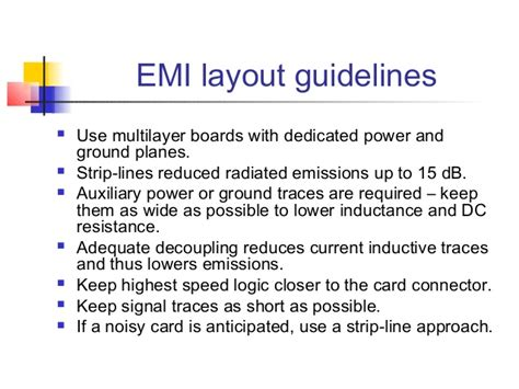 emi layout guidelines high performance printed circuit boards lecture 3