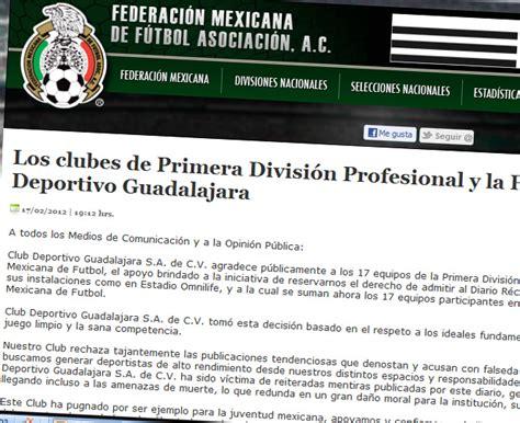 L A Records Chivas Y La Fmf Vetan A R 233 Cord Futbol Sapiens