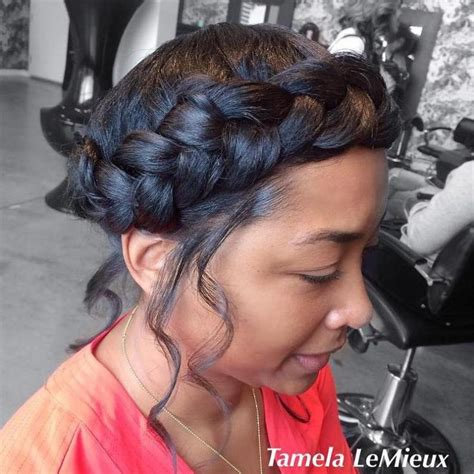 Braided Hairstyles For Black Without Weave by Best 25 Halo Braid With Weave Ideas On