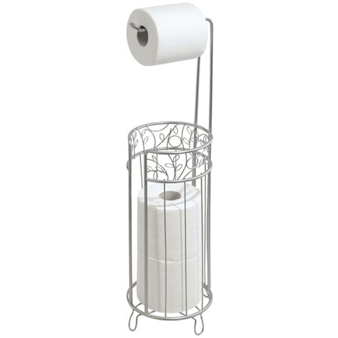 free standing toilet paper holder with storage interdesign twigz free standing toilet paper roll holder