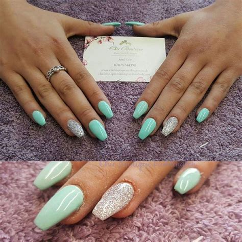 Mint Green Nails Ideas Hession Hairdressing