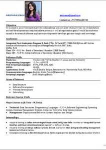 Top Resumes Formats Top Resume Format Resume Format 2017
