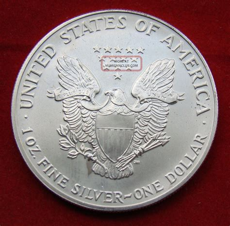 1 troy ounce silver eagle coin 1991 silver dollar coin 1 troy oz american eagle st