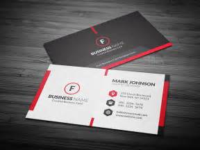 scarlet red creative business card template 187 free